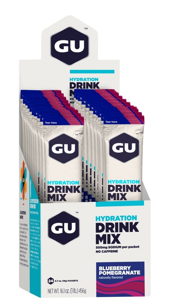 GU Hydration Drink Mix - Blueberry Pomegranate Stick Packs - 24