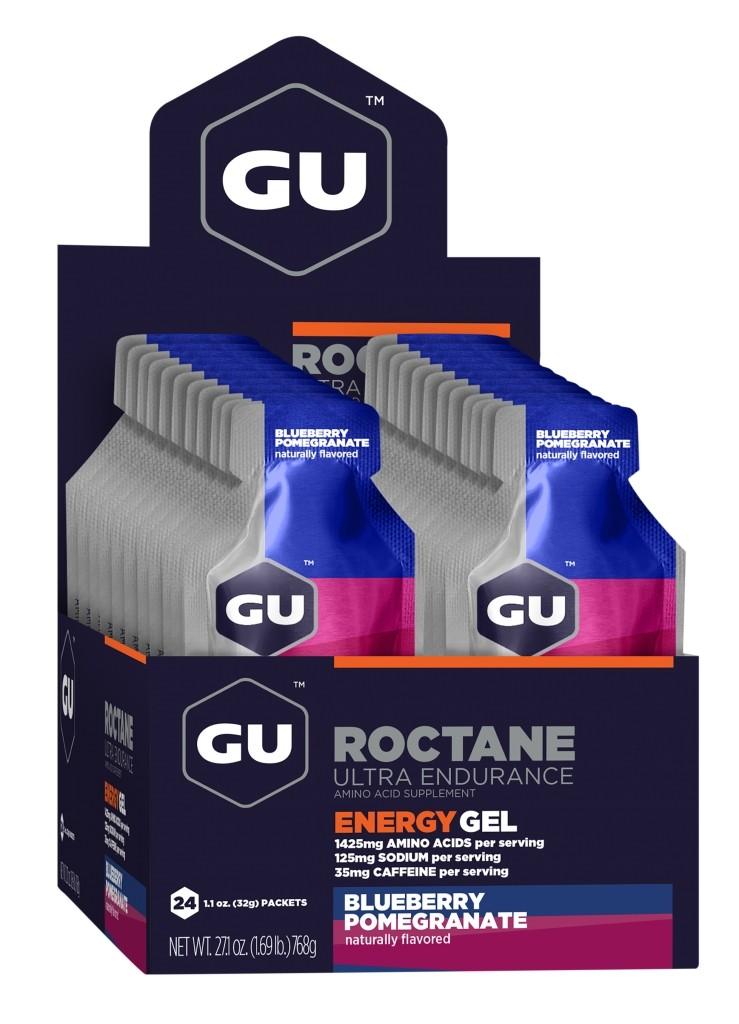 GU Energy Roctane Race Day Gel - Blueberry Pomegranate - Box of 24