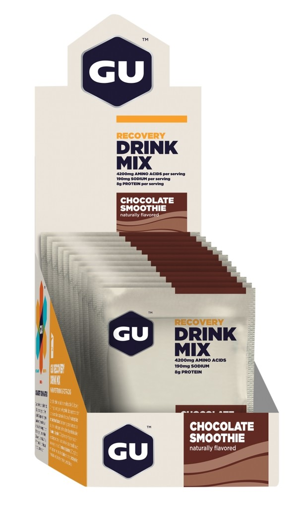 GU Recovery Drink Mix - Chocolate Smoothie Packets - Box of 12
