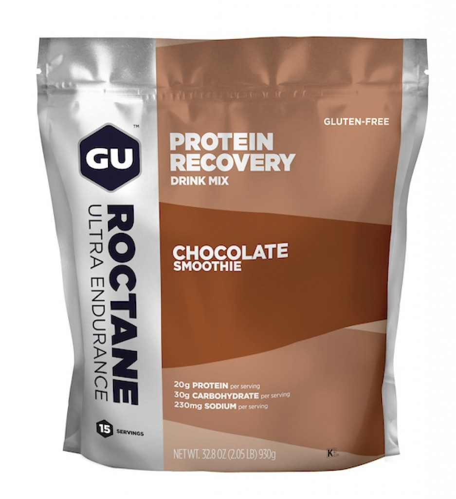 GU ROCTANE PROTEIN RECOVERY DRINK MIX - Chocolate Smoothie 15 Serving Gusset Bag