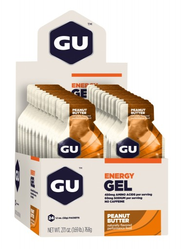 GU Energy Gel - Peanut Butter - Box of 24