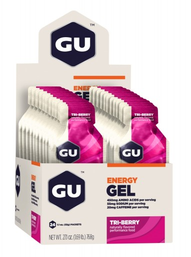 GU Energy Gel - Tri Berry - Box of 24