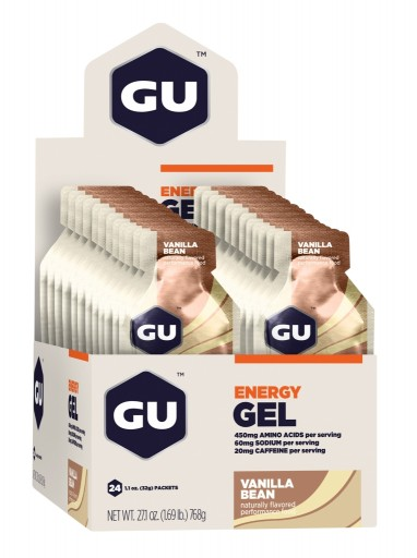 GU Energy Gel - Vanilla Bean - Box of 24