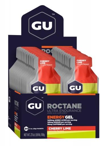GU Energy Roctane Race Day Gel - Cherry Lime - Box of 24