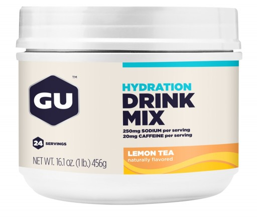 GU Hydration Drink Mix - Lemon Tea Canister (With Caffeine)