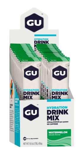 GU Hydration Drink Mix - Watermelon Stick Packs - 24