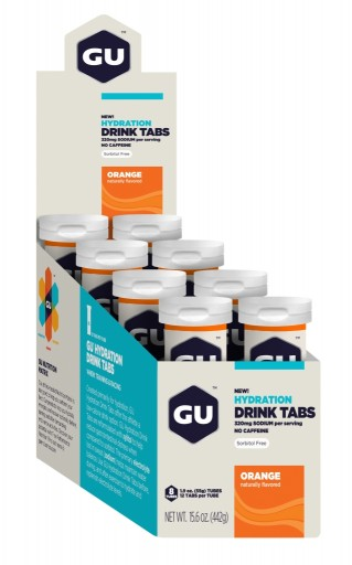 GU Hydration Drink Tabs - Orange - 12 Servings Per Tube