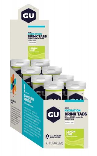 GU Hydration Drink Tabs - Lemon Lime - 8 Tubes X 12 Tabs Per Tube