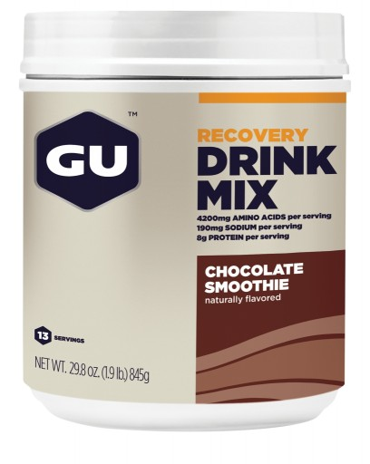 GU Recovery Drink Mix - Chocolate Smoothie Canister 15 servings
