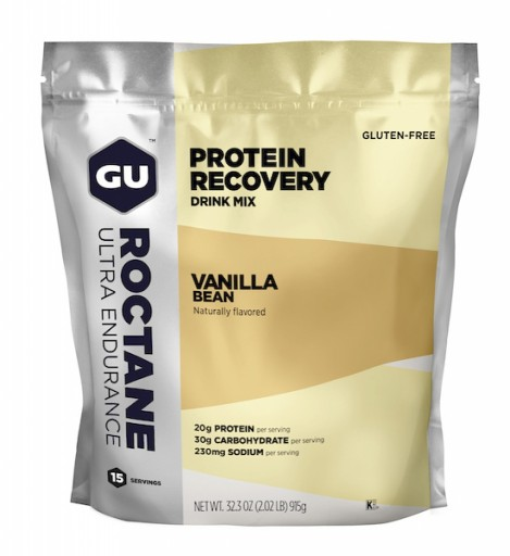 GU ROCTANE PROTEIN RECOVERY DRINK MIX - Vanilla Bean 15 Serving Gusset Bag
