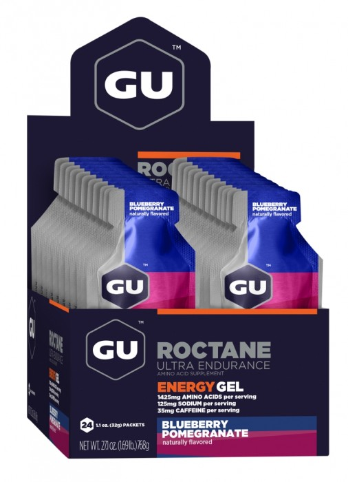 GU Energy Roctane Race Day Gel - Blueberry Pomegranate - Box of 24