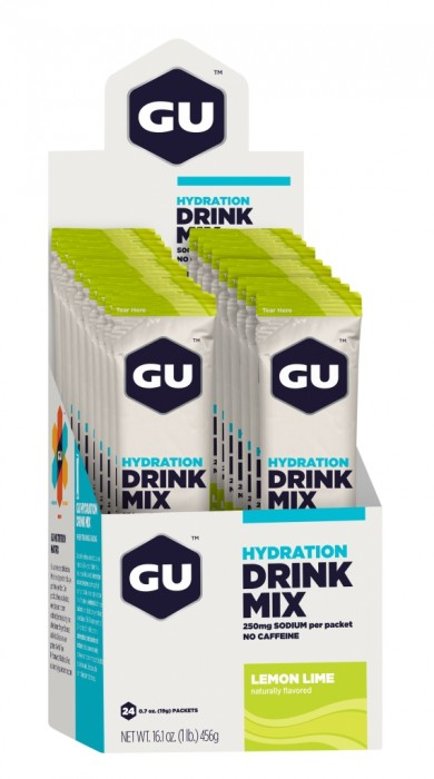 GU Hydration Drink Mix - Lemon Lime Stick Packs - 24