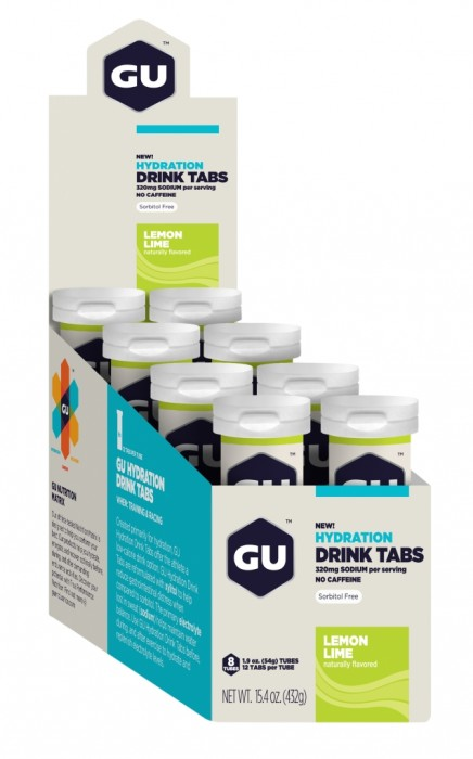 GU Hydration Drink Tabs - Lemon Lime - 8 Tubes X 12 Tabs Per Tube