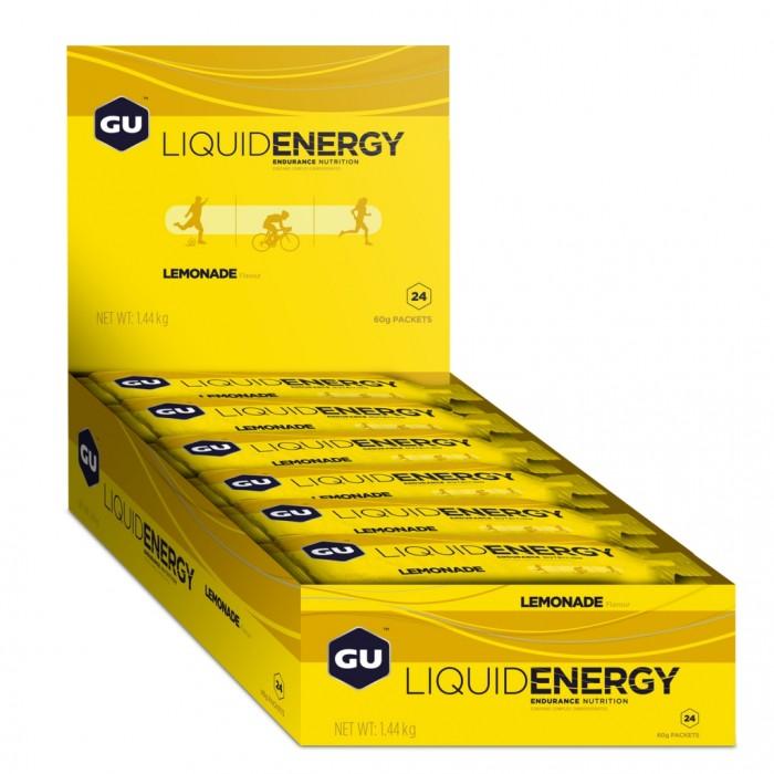 GU LIQUID ENERGY GELS - Lemonade 24 Pack
