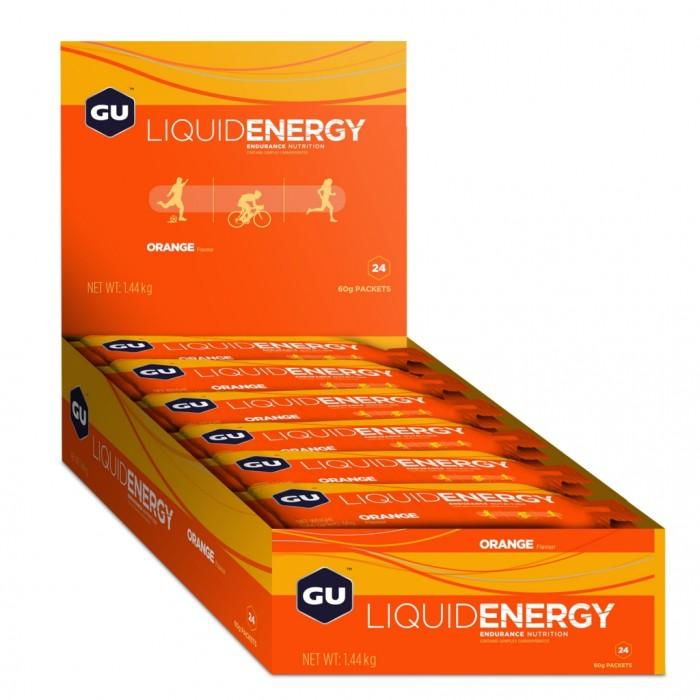 GU LIQUID ENERGY GELS - Orange 24 Pack